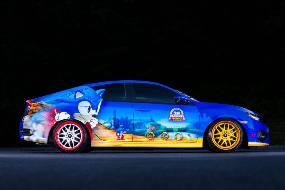 "Honda Debuts Custom-Designed ""Sonic Civic"" at Comic-Con; Joins ""Sonic the Hedgehog™"" and SEGA® in Celebrating the Iconic Game's 25th Anniversary"