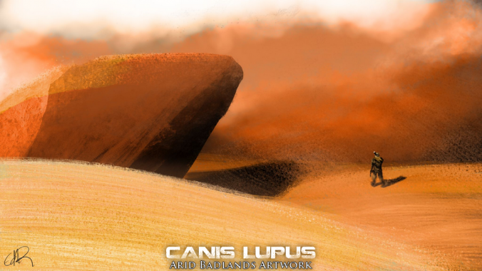 Arid Badlands Artwork