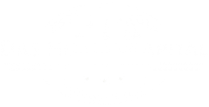 Das Humankapital Logo White Stamp Transparent