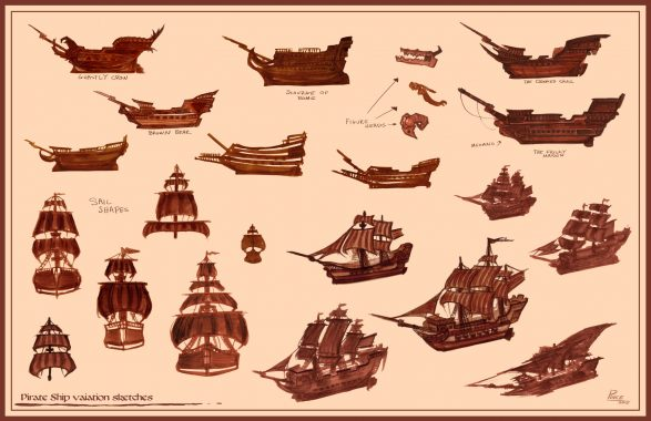 richard-pince-pirateshipsketches